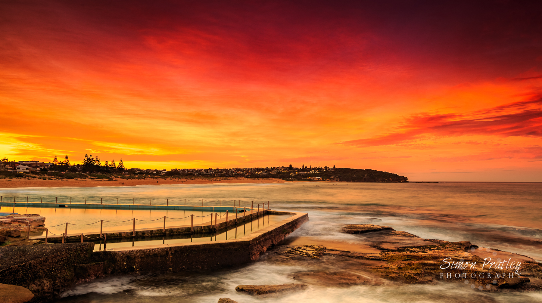 Red Sky Over Curl Curl