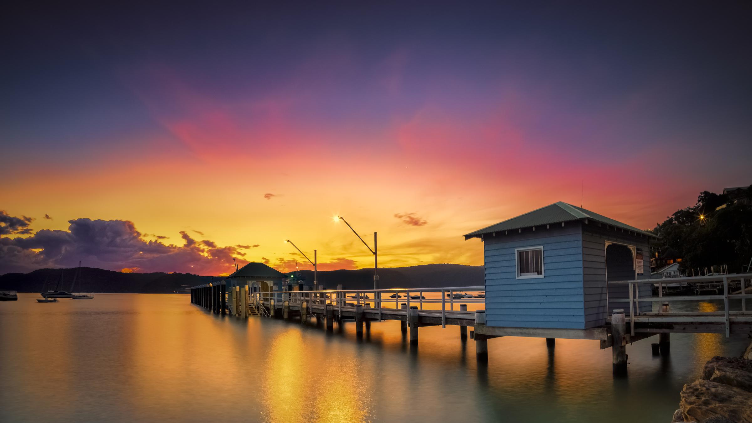 Palm Beach Ferry Wharf Panorama